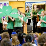 "Stoke Newington, Friday 19th March 2010 - On St Patrick's Day, Simon Marks Jewish Primary School hosted the visit of Feith an Cheoil School of Irish Traditional Music, an Enfield-based organisation that has students aged 7 to 17 which is keen to being Irish culture to new audiences. They performed a short educational ""Showpiece"" of Irish traditional music, song and dance to pupils at the school. Photo: Nathanael Corre"