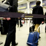 London, St-Pancras station, 15 April 2010 - While air transport was brought to stand still by the eruption of Icelandic volcano Eyjafjallajokull, many travellers had to take the Eurostar to travel to the contiinent.