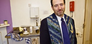 Rev. Andy Pakula in the Newington Green church's kitchen, second