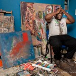 Osita Nwankwo in his London Studio.
