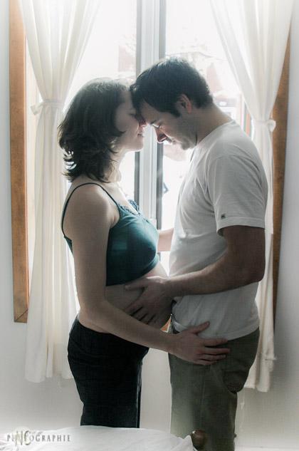 Joanna enceinte de Matteo. Décembre 2008.